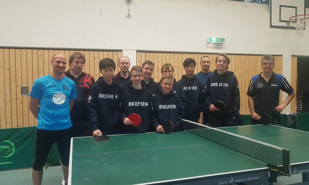 Die Tischtennis-Crew!