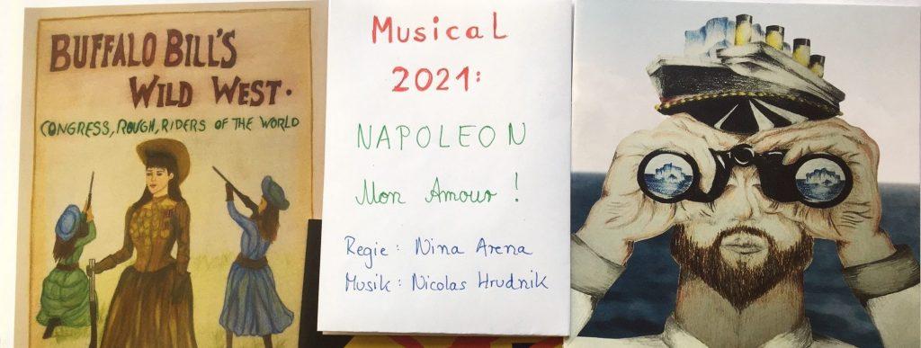 Zwei Musical-Broschüren und ein Info-Zettel
