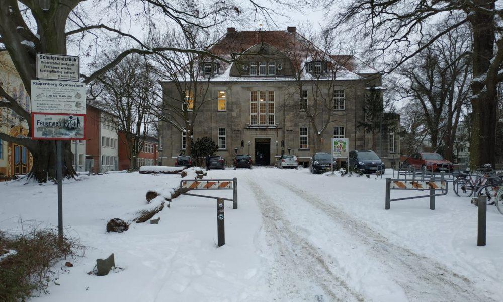 Das Vietorhaus im Schnee